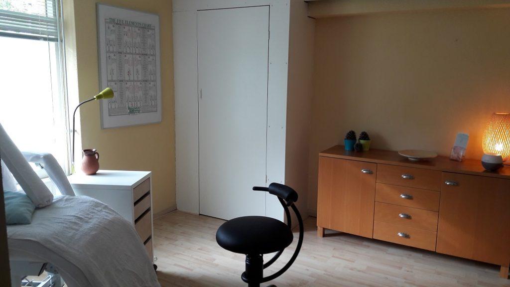 reflexzonetherapie praktijkkamer